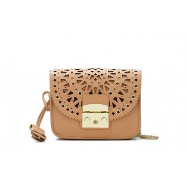 Eldora « Eloise » Genuine Leather Shoulder Bag Brown 76348