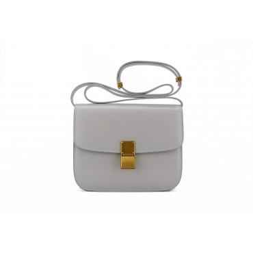 Eldora Genuine Leather Shoulder Bag Grey 76349