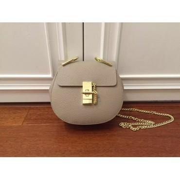 Eldora Genuine Leather Shoulder Bag Grey 76228