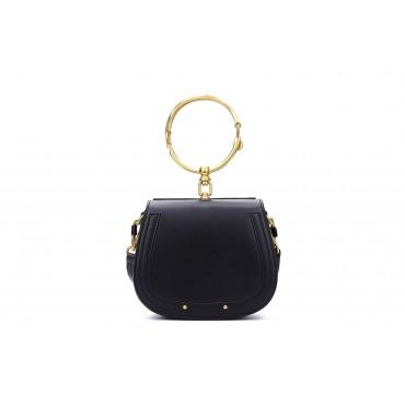 Eldora Genuine Leather Tote Bag Black 76344