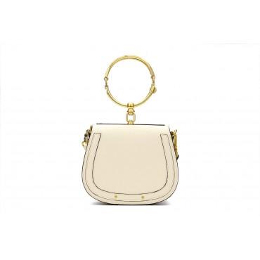 Eldora Genuine Leather Tote Bag White 76344