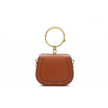 Eldora Genuine Leather Tote Bag Brown 76344