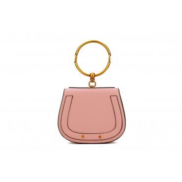 Eldora Genuine Leather Tote Bag Pink 76344
