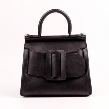 Eldora Genuine Leather Tote Bag Black 76364