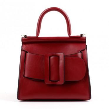 Eldora Genuine Leather Tote Bag Dark Red 76364