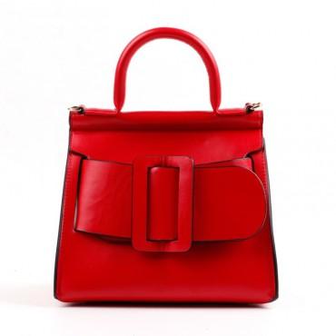 Eldora Genuine Leather Tote Bag Red 76364