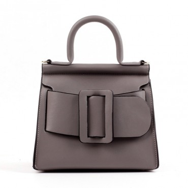 Eldora Genuine Leather Tote Bag Grey 76364