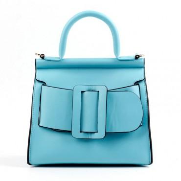 Eldora Genuine Leather Tote Bag Blue 76364