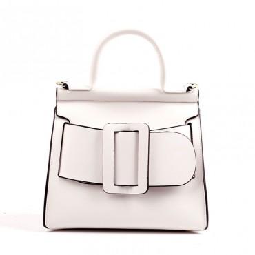 Eldora Genuine Leather Tote Bag White 76364