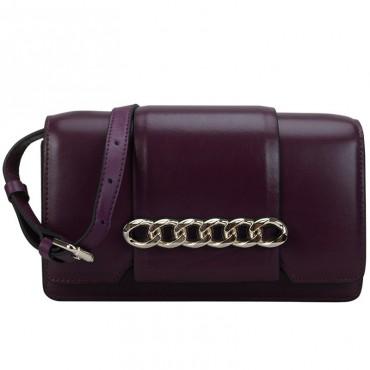 Eldora Genuine Leather Shoulder Bag Purple 76419
