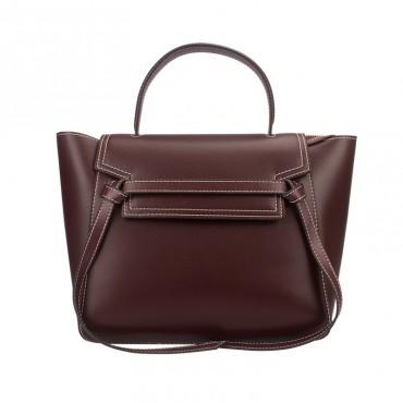 Eldora Genuine Leather Top Handle Bag Purple 76420