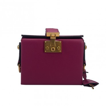 Eldora Genuine Leather Shoulder Bag Purple 76435