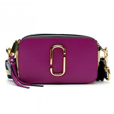 Eldora Genuine Leather Shoulder Bag with Decoration Pattern Purple 76448
