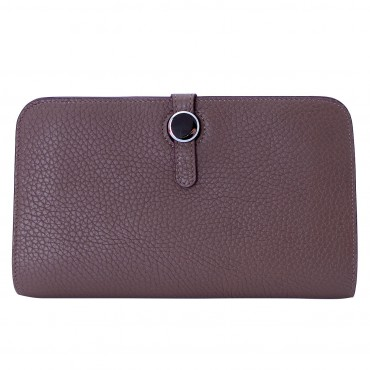 Rosaire « Harmonie » Women's Togo Leather Wallet Elephant Gray Color 15987