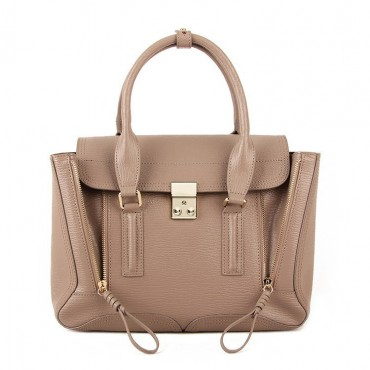 Rosaire « Royston » Satchel Bag Made of Genuine Cowhide Leather in Apricot Color / 75308