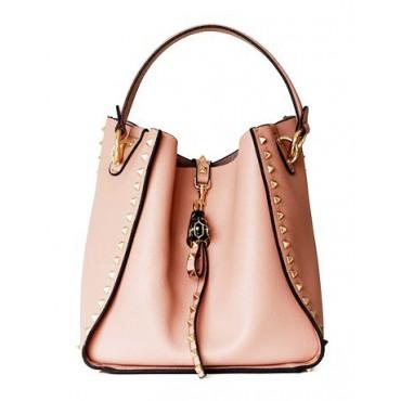 Eldora Studded Bucket Cowhide Leather Pink 76398