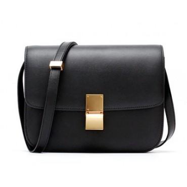 Rosaire « Lorie » Flap Bag Cow Leather Black 77103