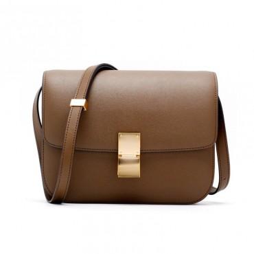 Rosaire « Lorie » Flap Bag Cow Leather Caramel 77103
