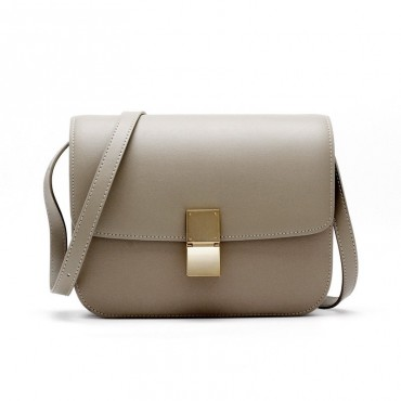 Rosaire « Lorie » Flap Bag Cow Leather Gray 77103