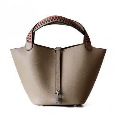 Eldora Genuine Cow Leather Bucket Bag