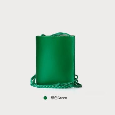Eldora Genuine Cow Leather Crossbody Bag Green 77108