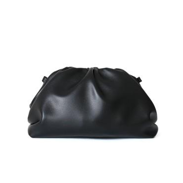 Eldora Genuine Cow Leather Clutch Bag Black 77117