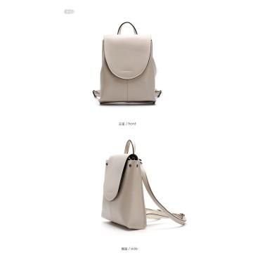 Eldora Genuine Cow Leather Backpack Bag Apricot 77124
