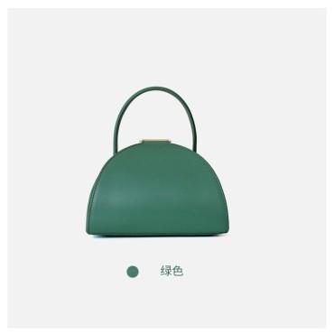 Eldora Genuine Cow Leather Top Handle Bag Green 77127
