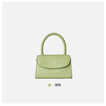 Eldora Genuine Cow Leather Top Handle Bag Green 77129