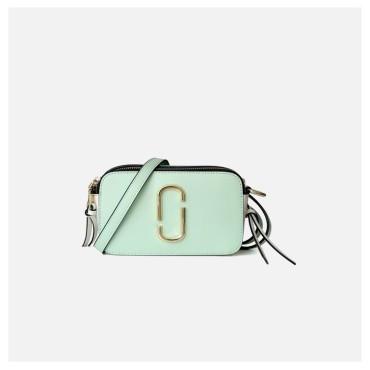 Eldora Genuine Cow Leather Shoulder Bag Green 77136
