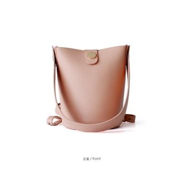 Eldora Genuine Cow Leather Bucket Bag Pink 77154