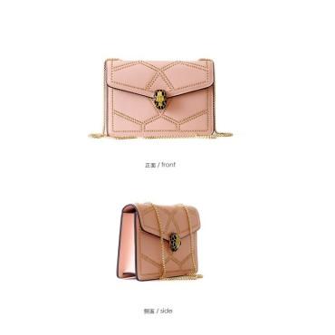 Eldora Genuine Cow Leather Shoulder Bag Pink 77156