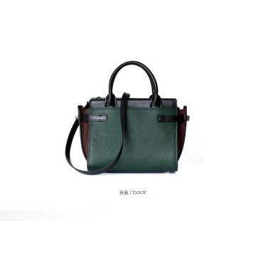 Eldora Genuine Cow Leather Shoulder Bag Green 77165