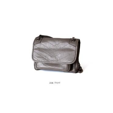 Eldora Genuine Cow Leather Shoulder Bag Grey 77174