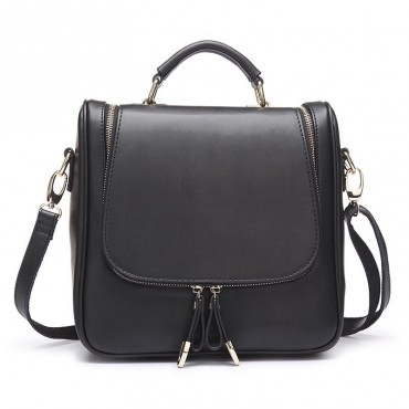 Solange Genuine Leather Backpack Bag Black 75118