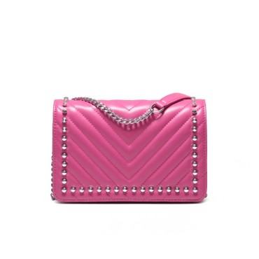 Eldora Genuine Lambskin Leather Shoulder Bag Purple 77237