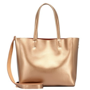 Eldora Genuine Cow Leather Tote Bag Gold 77253