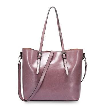 Eldora Genuine Cow Leather Shoulder Bag Pink 77257