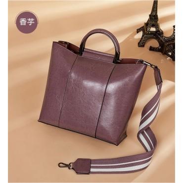 Eldora Genuine Cow Leather Shoulder Bag Pink 77258