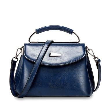 Eldora Genuine Cow Leather Shoulder Bag Blue 77259