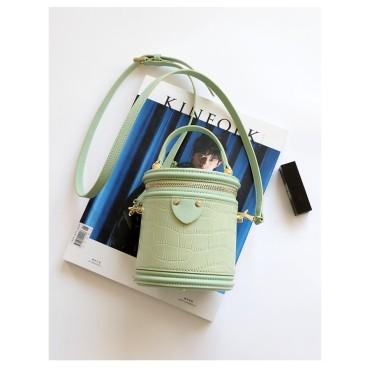 Eldora Genuine Leather Shoulder Bag Green 77278