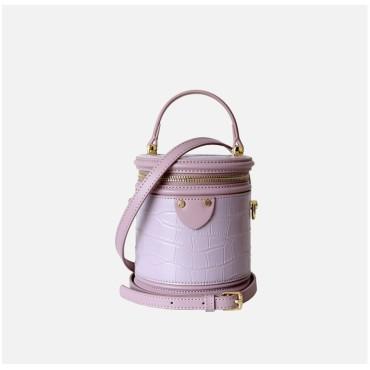 Eldora Genuine Leather Shoulder Bag Purple 77278