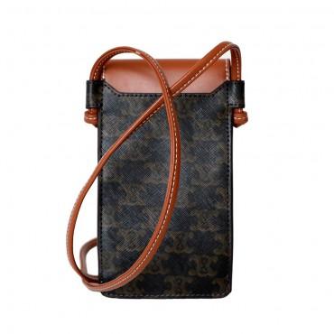 Eldora Genuine Leather Shoulder Bag Brown 77284