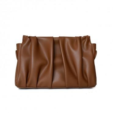 Eldora Genuine Leather Shoulder bag Brown 77283
