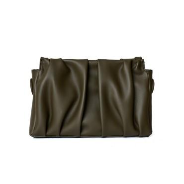Eldora Genuine Leather Top handle bag Dark Green 77283