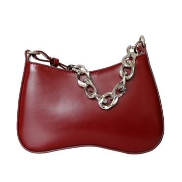 Eldora Genuine Leather Shoulder Bag Red77291