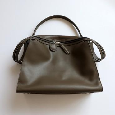 Eldora Genuine Leather Shoulder Bag Dark Green 77296