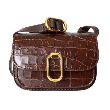 Eldora Genuine Leather Shoulder Bag Dark Red 77299