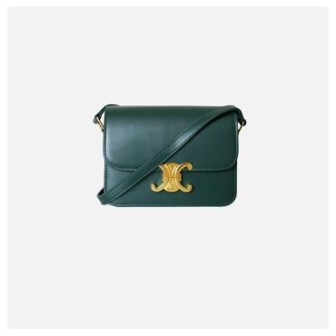 Eldora Genuine Leather Shoulder Bag Green 77302