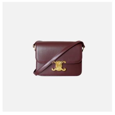 Eldora Genuine Leather Shoulder Bag Dark Red 77302